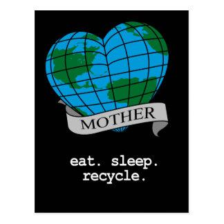 EAT. SLEEP. RECYCLE. POSTCARD