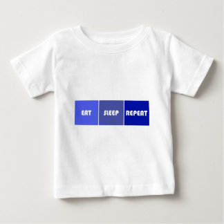 Eat Sleep Repeat Male Baby T-Shirt
