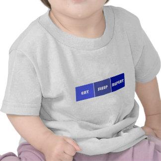Eat Sleep Repeat Male T Shirts