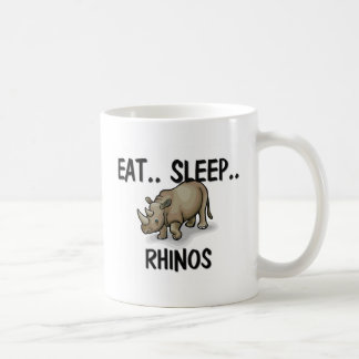 Eat Sleep RHINOS Coffee Mug