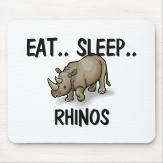 Eat Sleep RHINOS Mouse Mat