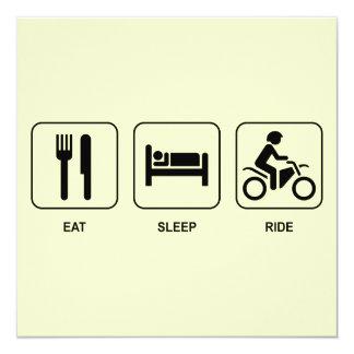 Eat Sleep Ride 13 Cm X 13 Cm Square Invitation Card