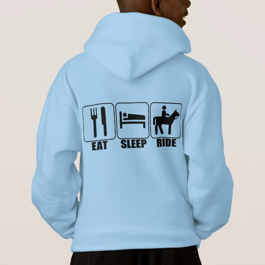 Eat Sleep Ride a Horse Kid's Equestrian Hoodie