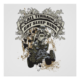 Eat, Sleep, Ride All Terrain Poster