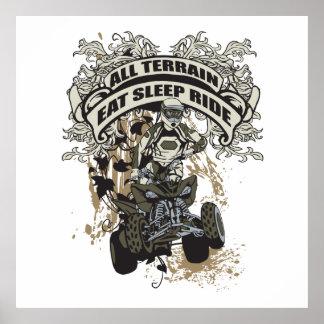 Eat, Sleep, Ride All Terrain Print