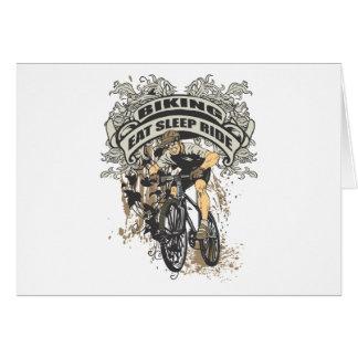 Eat Sleep Ride Biking Cards