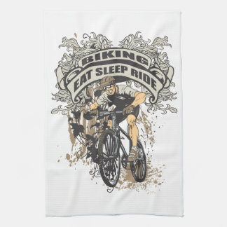 Eat, Sleep, Ride Biking Tea Towel
