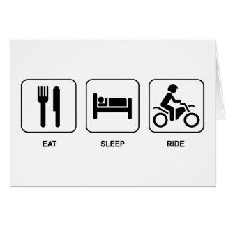 Eat Sleep Ride Card