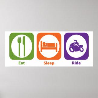 Eat Sleep Ride Poster