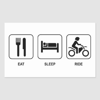Eat Sleep Ride Rectangular Sticker