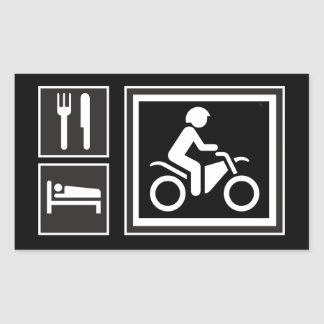 Eat. Sleep. RIDE! Rectangular Sticker