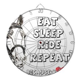 Eat Sleep Ride Repeat Dartboard