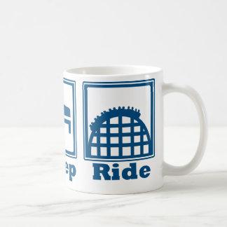 Eat, Sleep, & Ride (Roller Coasters) - Blue Coffee Mug