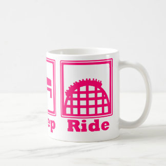 Eat, Sleep, & Ride (Roller Coasters) - Pink Coffee Mug