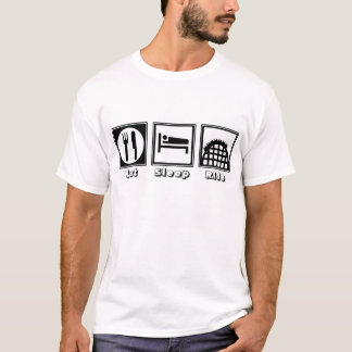 Eat, Sleep, & Ride (Roller Coasters) T-Shirt
