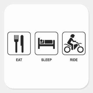 Eat Sleep Ride Square Sticker