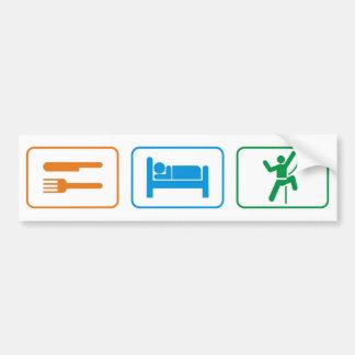 eat sleep -rock climb bumper sticker