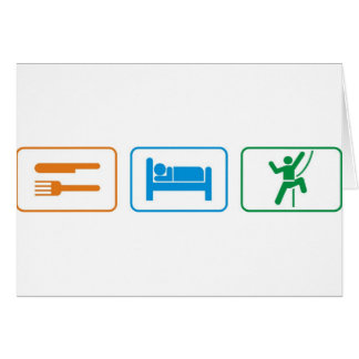 eat sleep -rock climb card