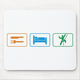 eat sleep -rock climb mousepad