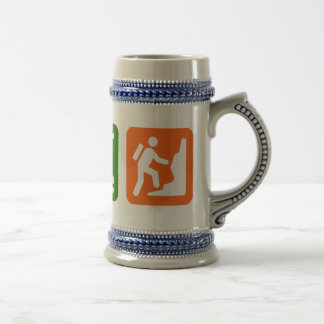 Eat Sleep Rock Climbing 2 Beer Stein