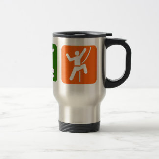 Eat Sleep Rock Climbing Travel Mug