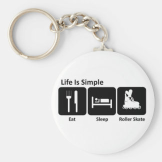 Eat Sleep Roller Skate Key Ring