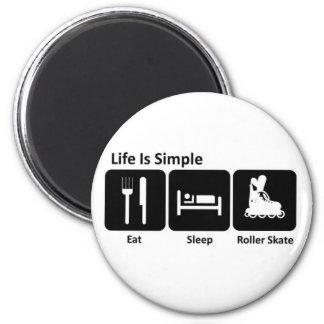 Eat Sleep Roller Skate Magnet