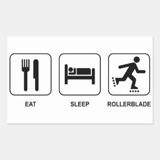 Eat Sleep Rollerblade Rectangular Sticker