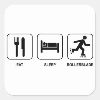 Eat Sleep Rollerblade Square Stickers