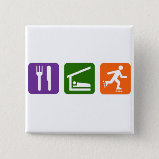 Eat Sleep Rollerblading 15 Cm Square Badge