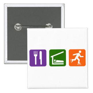 Eat Sleep Rollerblading 15 Cm Square Badge