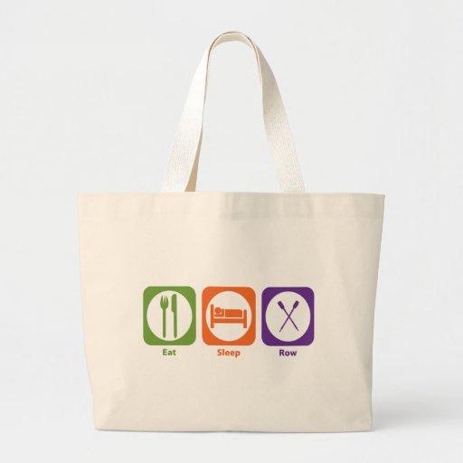 Eat Sleep Row Canvas Bags