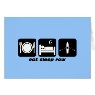 eat sleep row card
