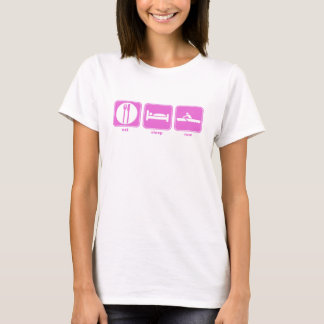 eat sleep row pink T-Shirt