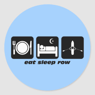 eat sleep row sticker