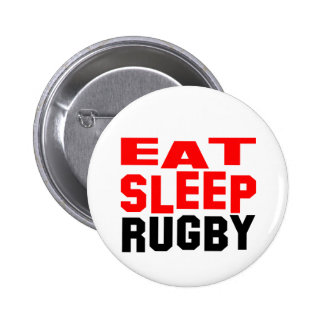 Eat Sleep Rugby 6 Cm Round Badge