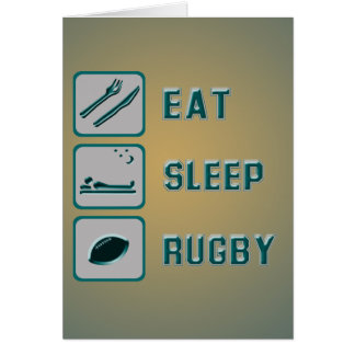 Eat Sleep Rugby Card