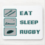 Eat Sleep Rugby Mouse Pads