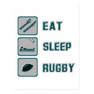 Eat Sleep Rugby Postcards