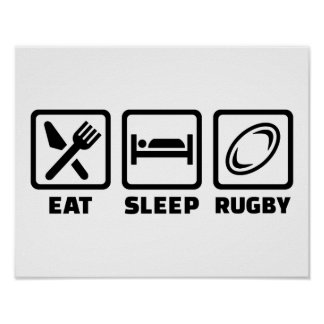 Eat sleep Rugby Poster