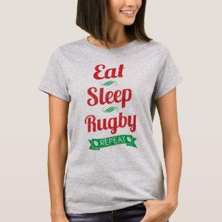 Eat, Sleep, Rugby, Repeat Ladies Tee