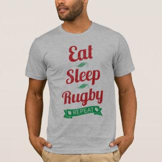 Eat, Sleep, Rugby, Repeat Men's Tee
