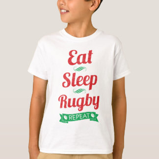 Eat, Sleep, Rugby, Repeat Tee