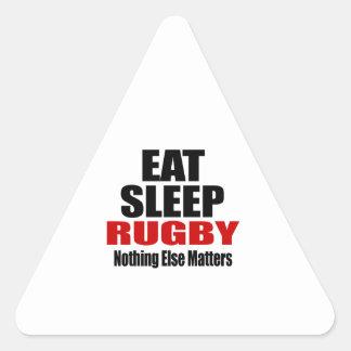 EAT SLEEP RUGBY TRIANGLE STICKER