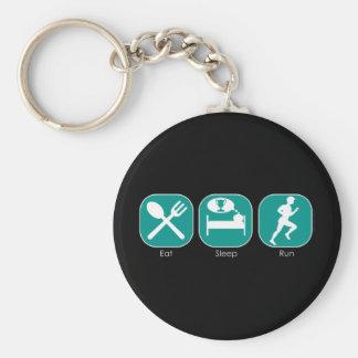 Eat Sleep Run Basic Round Button Key Ring
