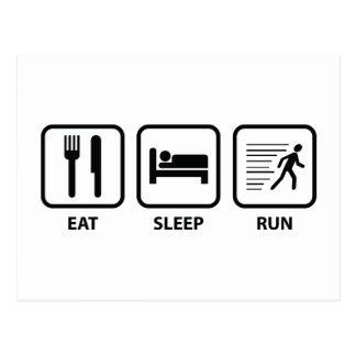 Eat Sleep Run Postcard