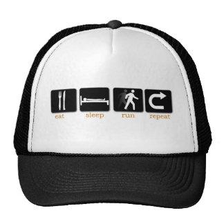 Eat Sleep Run Repeat Mesh Hats