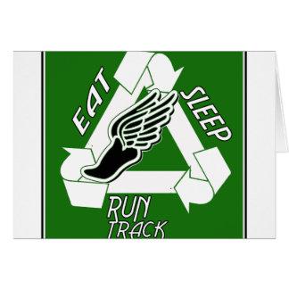 Eat Sleep Run Track Greeting Card