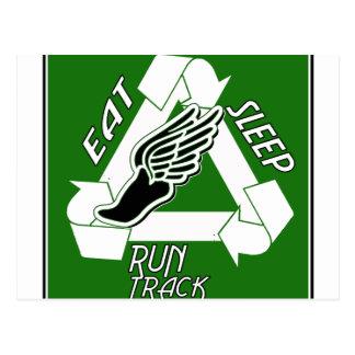Eat Sleep Run Track Postcard
