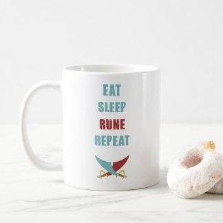 Eat Sleep Runescape Coffee Mug